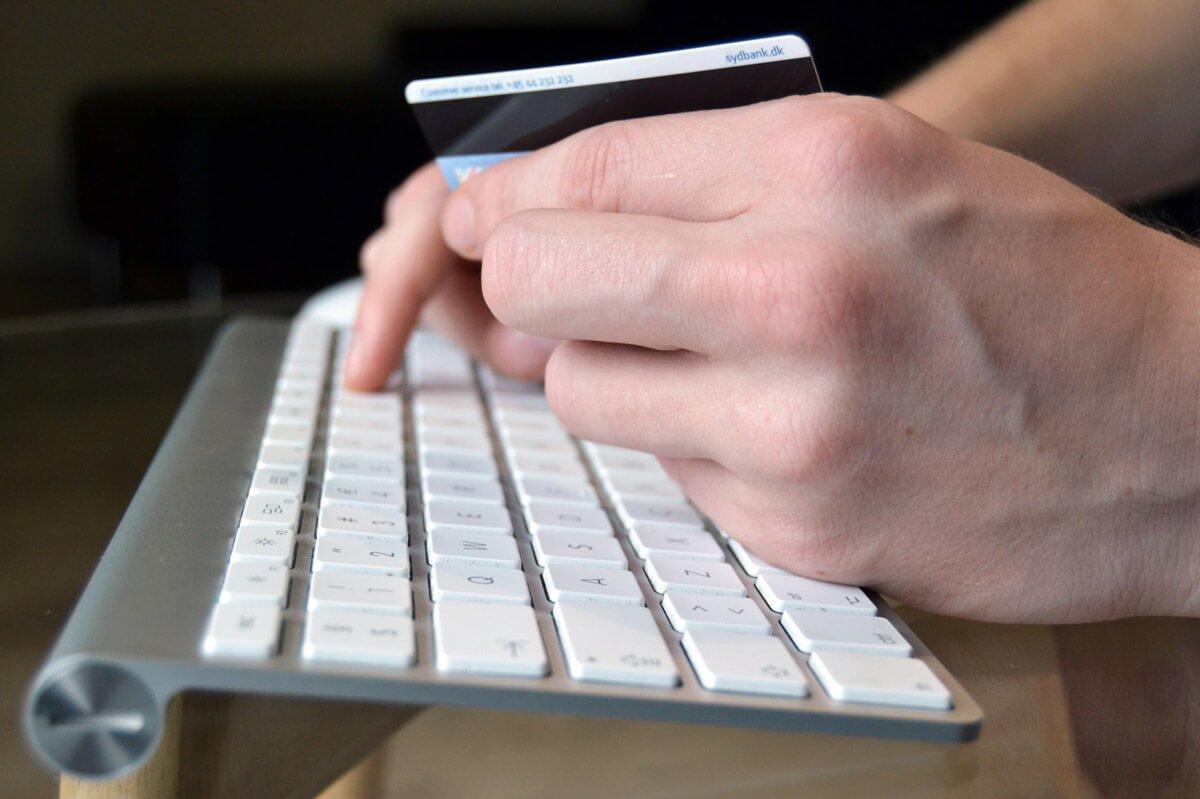 Online shopping med kreditkort